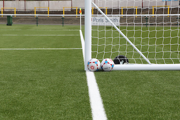 Sutton United 3G Pictch Goalpost and Footballs